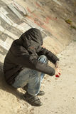 Αγόρι με ένα μπουκάλι στοκ φωτογραφία με δικαίωμα ελεύθερης χρήσης