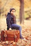 Αγόρι με μια βαλίτσα Στοκ Φωτογραφία