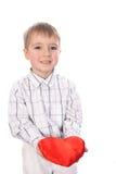 Αγόρι με μια καρδιά Στοκ Εικόνες