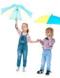 Αγόρι με μια στάση κοριτσιών Στοκ εικόνες με δικαίωμα ελεύθερης χρήσης