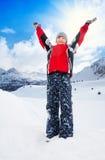 Αγόρι με τα ανυψωμένα χέρια Στοκ εικόνα με δικαίωμα ελεύθερης χρήσης