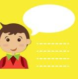 Αγόρι με τη λεκτική φυσαλίδα Στοκ εικόνες με δικαίωμα ελεύθερης χρήσης
