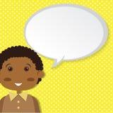 Αγόρι με τη λεκτική φυσαλίδα Στοκ εικόνα με δικαίωμα ελεύθερης χρήσης
