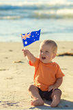 Αγόρι με τη σημαία Στοκ Φωτογραφίες
