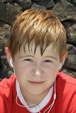 Αγόρι με το κόκκινο τρίχωμα Στοκ φωτογραφία με δικαίωμα ελεύθερης χρήσης