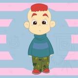 Αγόρι με το κόκκινο mohawk Στοκ εικόνες με δικαίωμα ελεύθερης χρήσης