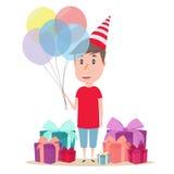 Αγόρι με το μπαλόνι Στοκ Εικόνα
