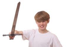 Αγόρι με το ξίφος Στοκ φωτογραφία με δικαίωμα ελεύθερης χρήσης