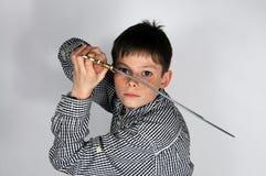 Αγόρι με το ξίφος Στοκ φωτογραφίες με δικαίωμα ελεύθερης χρήσης