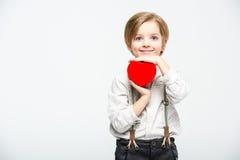 Αγόρι με το σημάδι καρδιών Στοκ εικόνες με δικαίωμα ελεύθερης χρήσης