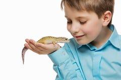 Αγόρι με το gicon στοκ εικόνα με δικαίωμα ελεύθερης χρήσης