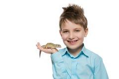 Αγόρι με το gicon Στοκ Εικόνα