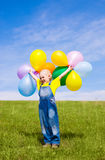 αγόρι μπαλονιών Στοκ φωτογραφίες με δικαίωμα ελεύθερης χρήσης