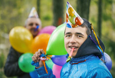 αγόρι μπαλονιών Στοκ Εικόνα