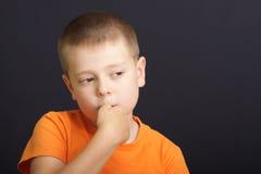 αγόρι νευρικό Στοκ εικόνες με δικαίωμα ελεύθερης χρήσης