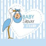 Αγόρι ντους μωρών απεικόνιση αποθεμάτων