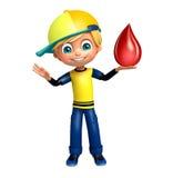 Αγόρι παιδιών με την πτώση αίματος Στοκ Εικόνες