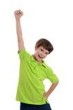Αγόρι που αυξάνει την πυγμή Στοκ Εικόνα