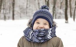 αγόρι που γελά ελάχιστα Στοκ Φωτογραφίες