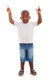 Αγόρι που δείχνει επάνω Στοκ Εικόνα