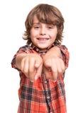 Αγόρι που δείχνει το μέτωπο Στοκ φωτογραφία με δικαίωμα ελεύθερης χρήσης
