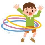 Αγόρι που η στεφάνη hula Στοκ εικόνα με δικαίωμα ελεύθερης χρήσης
