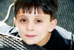αγόρι που ικανοποιείται Στοκ εικόνα με δικαίωμα ελεύθερης χρήσης