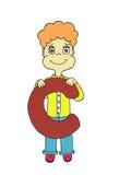 Αγόρι που κρατά μια επιστολή Στοκ φωτογραφία με δικαίωμα ελεύθερης χρήσης