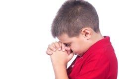 Αγόρι που προσεύχεται 2 Στοκ φωτογραφίες με δικαίωμα ελεύθερης χρήσης