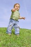 αγόρι που σπρώχνει σας Στοκ φωτογραφία με δικαίωμα ελεύθερης χρήσης