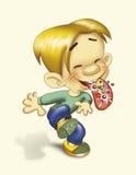 αγόρι που τρώει τους λαϊκούς βράχους ελεύθερη απεικόνιση δικαιώματος