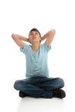 αγόρι που φαίνεται skyward σκεπ στοκ φωτογραφία με δικαίωμα ελεύθερης χρήσης