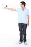 Αγόρι που χρησιμοποιεί megaphone Στοκ φωτογραφίες με δικαίωμα ελεύθερης χρήσης