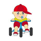αγόρι ποδηλάτων μωρών Στοκ Εικόνες