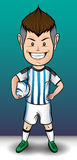 Αγόρι ποδοσφαίρου της Αργεντινής Στοκ Εικόνες