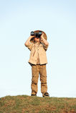 Αγόρι σαφάρι Στοκ Φωτογραφίες