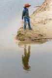 Αγόρι σε ένα καπέλο σερίφηδων Στοκ Φωτογραφίες