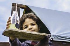 Αγόρι σε Clubhouse Στοκ φωτογραφίες με δικαίωμα ελεύθερης χρήσης