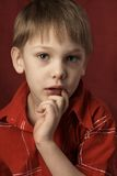 αγόρι σκεπτικό Στοκ Εικόνες