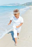 Αγόρι στην παραλία Στοκ Φωτογραφία