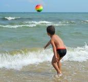 Αγόρι στην παραλία Στοκ Εικόνες
