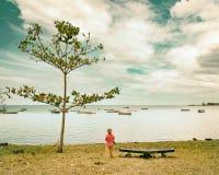 Αγόρι στην παραλία Στοκ φωτογραφία με δικαίωμα ελεύθερης χρήσης