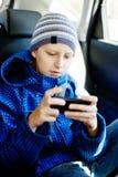 Αγόρι στο αυτοκίνητο Στοκ Φωτογραφία