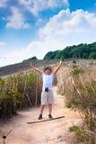 Αγόρι στο βουνό Στοκ εικόνες με δικαίωμα ελεύθερης χρήσης