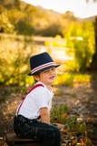 Αγόρι στο καπέλο Στοκ Φωτογραφίες