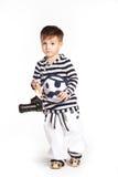 Αγόρι στο κοστούμι ναυτικών Στοκ Φωτογραφία