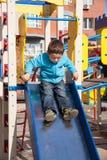 Αγόρι στο playgroung Στοκ Εικόνες