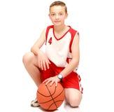 αγόρι σφαιρών αθλητών Στοκ φωτογραφία με δικαίωμα ελεύθερης χρήσης