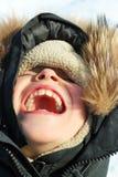 Αγόρι το χειμώνα Στοκ φωτογραφία με δικαίωμα ελεύθερης χρήσης