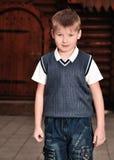 αγόρι υπαίθριο στοκ φωτογραφία